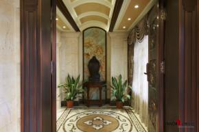 混搭 别墅 高富帅 名雕丹迪 别墅装修 玄关图片来自名雕丹迪在中西融合—600平混搭风别墅装修的分享
