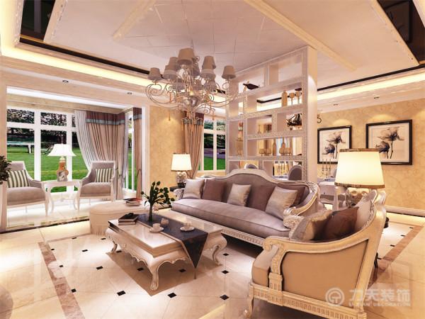 本方案在造型上大都用欧式线条来对空间进行修饰,家具的搭配也选用符合空间主题的色调和造型