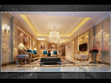 欧式风格—4房1厅奢华家居装修
