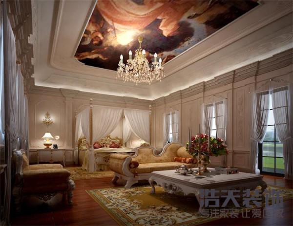 主人房:一个主人休息的地方,也许温馨,舒适比什么都显得重要,光与色的交错,情与景交融,温情,美梦相依….