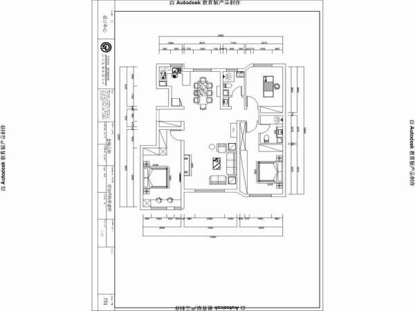 户型分析:     本户型为3室2厅一厨两卫130平米设计方案。空间较宽敞每个空间都有独立的采光,总体房型的面积较宽敞根据要求定位为欧式来营造一种温馨古朴的生活氛围,来体现业主的生活品味和生活情调。