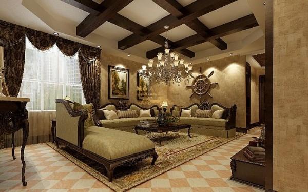 西安城市人家-浩林·方里-美式风格-118.4平米三居室装修设计