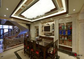 混搭 别墅 高富帅 名雕丹迪 别墅装修 餐厅图片来自名雕丹迪在中西融合—600平混搭风别墅装修的分享