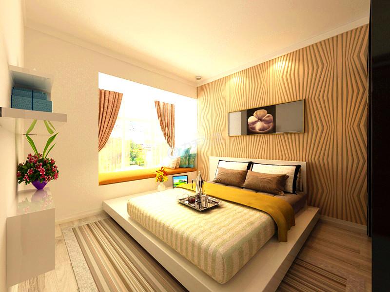 简约 二居 白领 收纳 旧房改造 80后 小资 卧室图片来自阳光力天装饰糖宝在泰达城河与海 87㎡的分享
