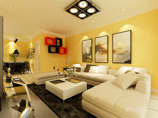 便于室内空气流通顺畅,客厅左边的是卧室,整个户型呈U型布局!