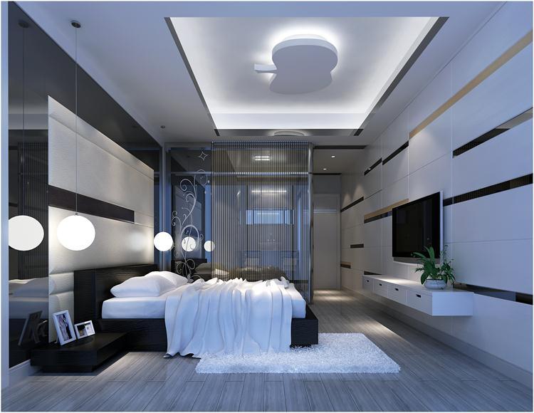 简约 小资 别墅 卧室图片来自深圳浩天装饰在熙龙湾的分享