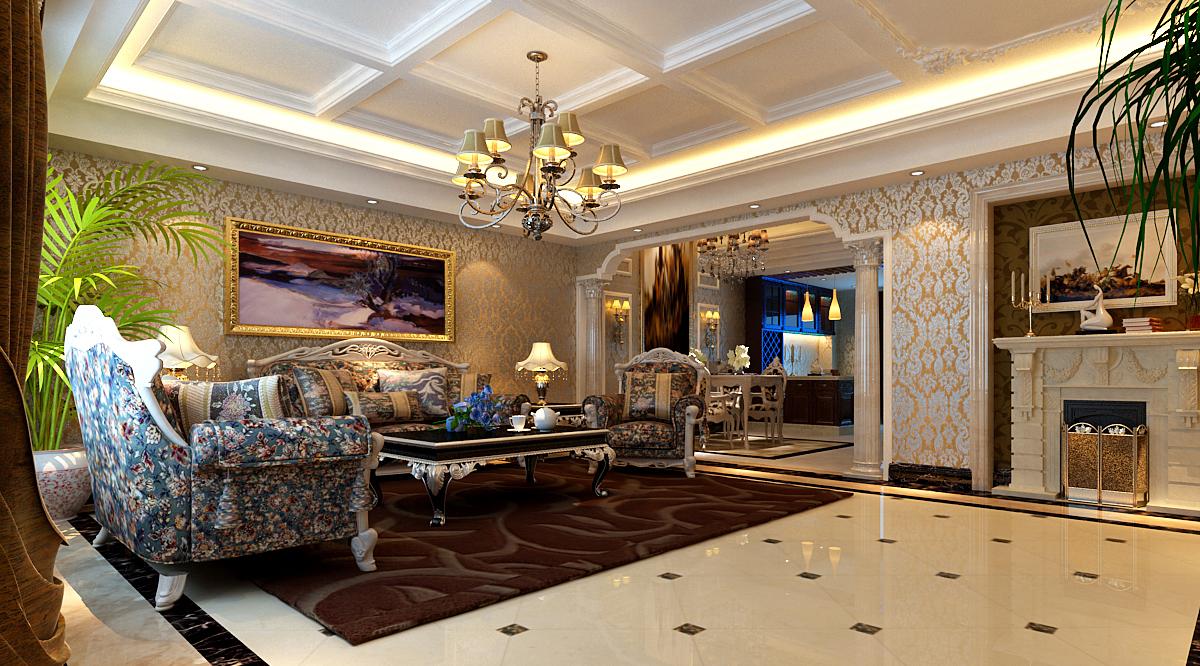 欧式 复式 小资 客厅图片来自实创装饰上海公司在复式户型欧式风格装修的分享