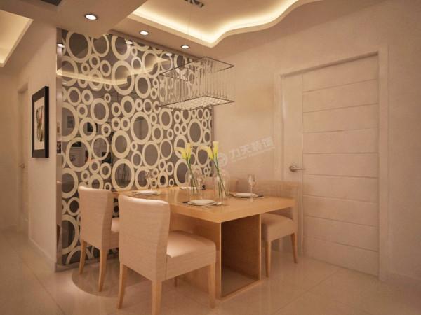 餐厅的户型吊顶在整体的明朗风格中有种温婉的美