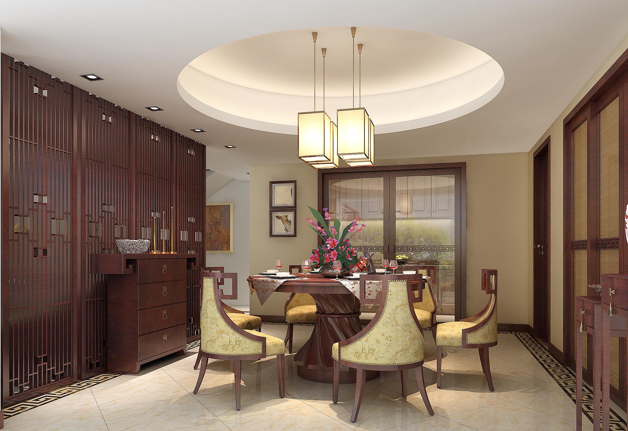 现代中式 简约 餐厅图片来自孔一程在中信君庭逸品堂的分享