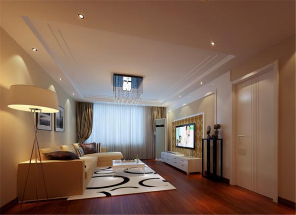 简单又不失大气的客厅,在灯光设计上,光线让视线得到最大化的延伸,丰富了空间的层次。在功能设计上勾勒出了一个简单而颇具个性的现代化的生活空间。