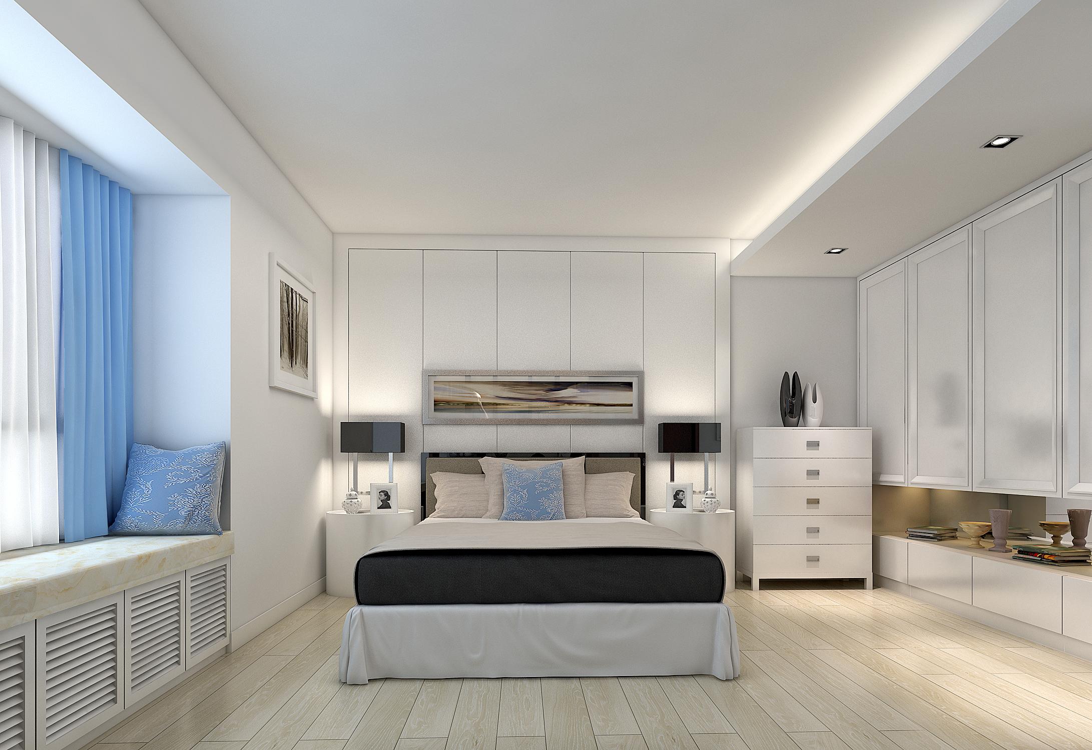 现代中式 简约 卧室图片来自孔一程在中信君庭逸品堂的分享