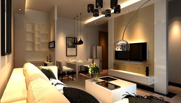 亮点:电视背景墙的线条设计,进门的玄关设计,点缀若干照片的置物柜简约大气,兼具收纳和装饰功能。不仅实用美观,而且在空间上合理的划分,避免一进门就看到餐厅,搭配绿植,家庭氛围更加愉悦。