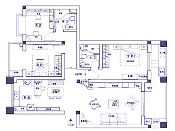 15.8万打造地中海风格三居室