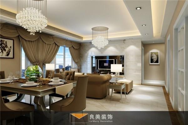 良美装饰·南城都汇四期张宅港式风格客厅设计。