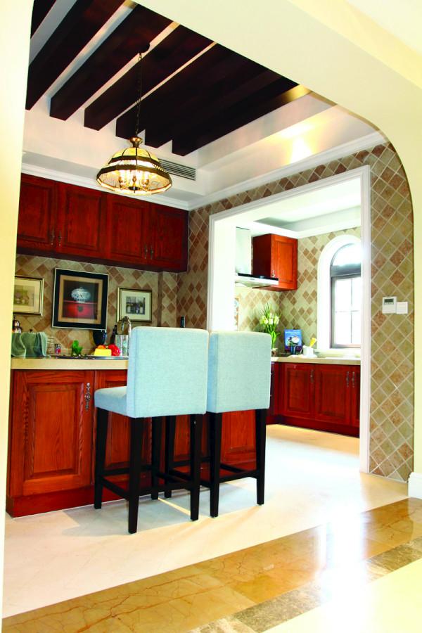 厨房有地口海的风情。