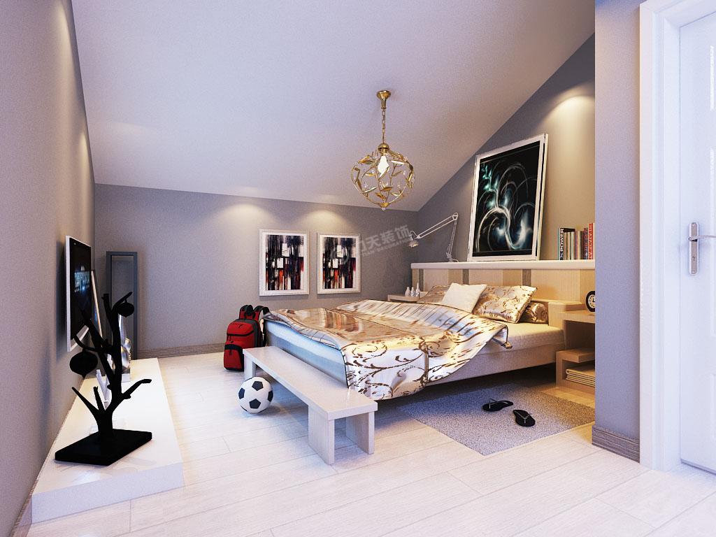 二居 简约 白领 收纳 80后 小资 卧室图片来自阳光力天装饰梦想家更爱家在大港剑桥港湾-107平-现代简约的分享