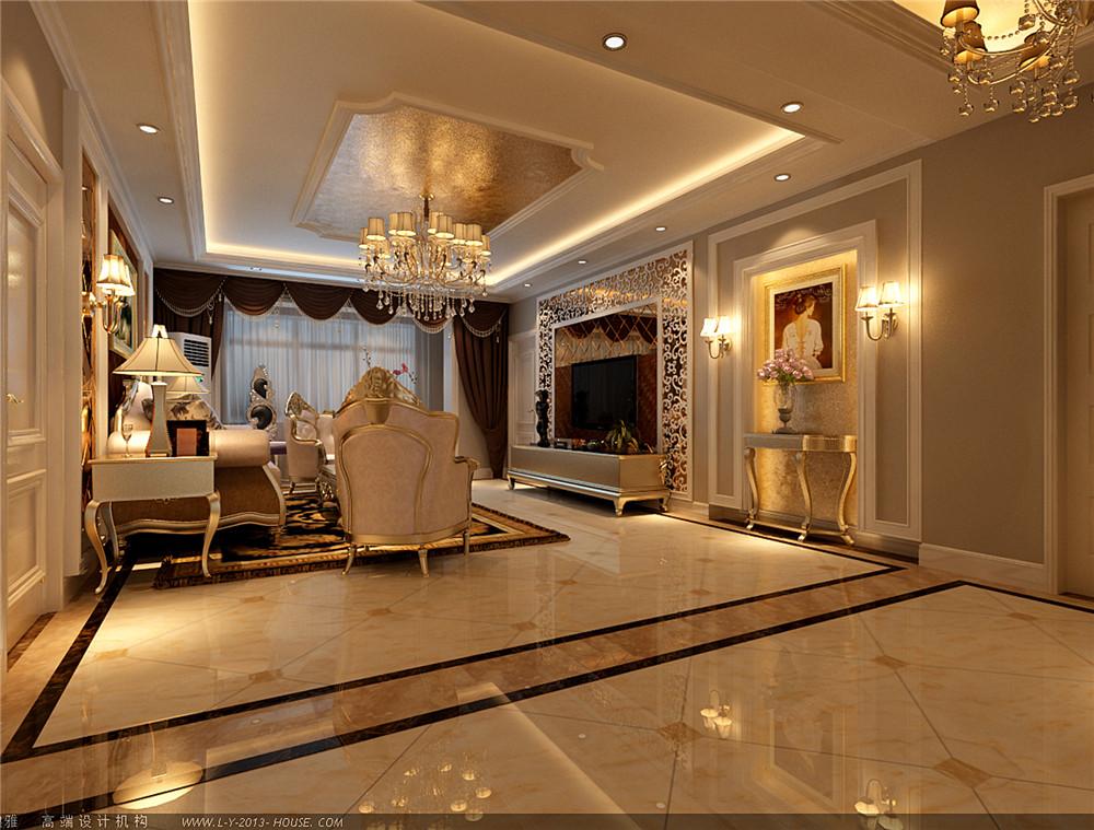 欧式 三居 白领 收纳 旧房改造 80后 小资 客厅图片来自实创装饰完美家装在欧式奢华造就宏福苑150平的分享