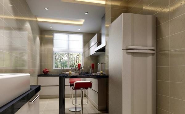 开放式厨房营造出温馨的就餐环境,让据家人生活的贴心快乐从清早开始就伴随全家人