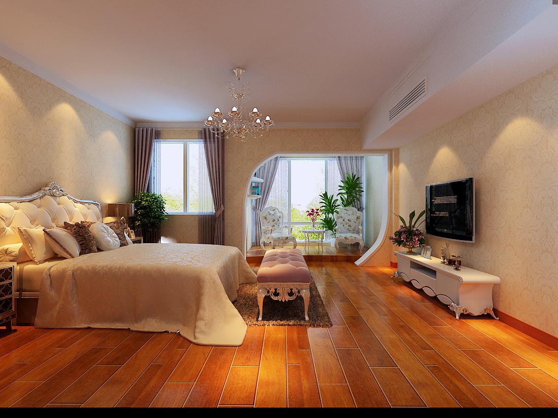 复式 简欧风格 旧房改造 80后 小资 卧室图片来自今朝装饰小魏在华鑫苑欧式简约风格的分享