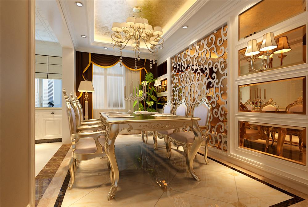 欧式 三居 白领 收纳 旧房改造 80后 小资 餐厅图片来自实创装饰完美家装在欧式奢华造就宏福苑150平的分享
