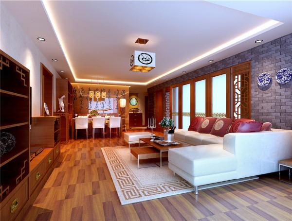 大块面的起承转合大气洒脱,直线条的排列增强了空间的秩序美。材质、色彩的搭配,使空间时时散发着静谧淡雅的气息。 亮点:墙体石材与青花瓷器间材质的对比,更透露出古朴的中式气息。
