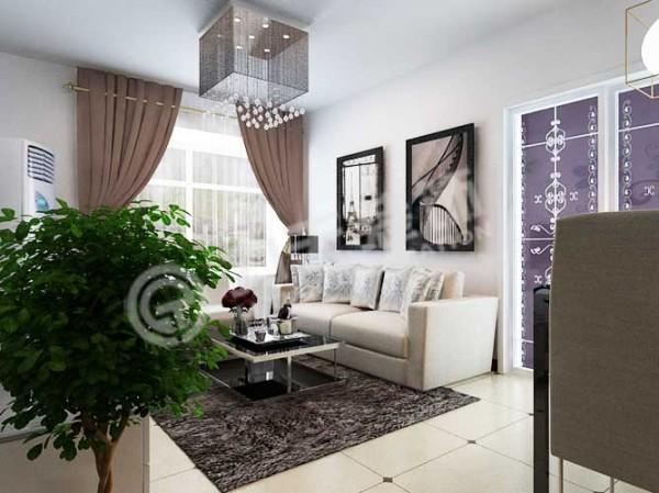 客厅尽头是一个宽大的飘窗,可以保证室内良好的采光。