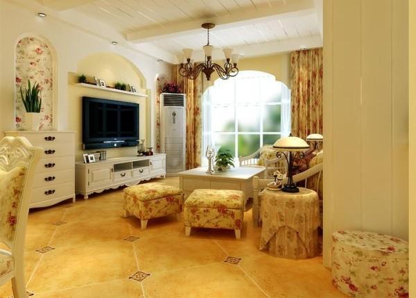 郑州实创装饰-橄榄城118平三居室-电视背景墙