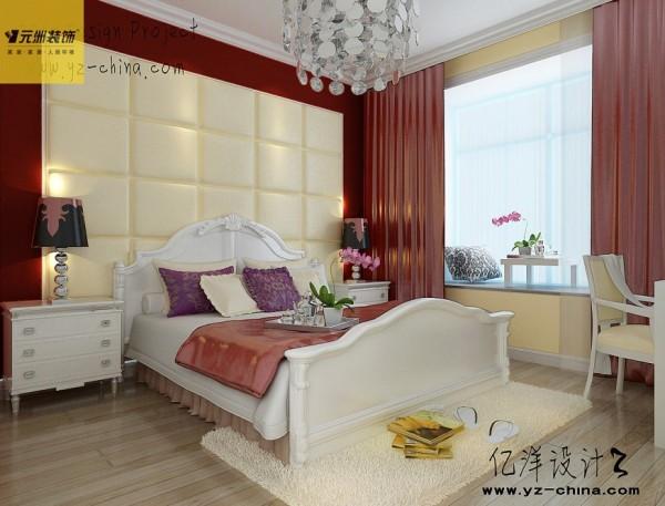 主卧室:个性的床头软包造型让卧室温馨舒适;