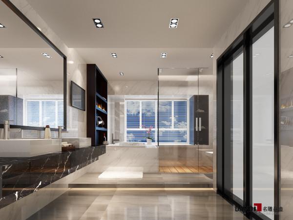 名雕装饰设计——熙龙湾280平别墅--卫生间装修效果图