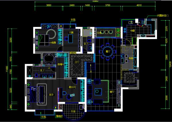 金月湾花园二居室户型图