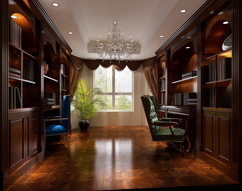 简约 欧式 公寓 白领 小清新 80后 书房图片来自北京高度国际装饰设计在金隅翡丽简欧风格花园洋房的分享