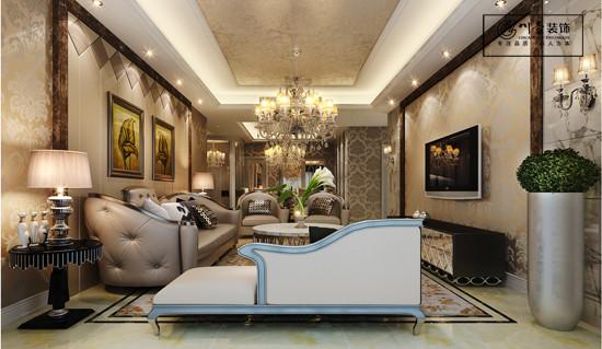 合肥国耀一方城小区166平米客厅装修设计效果图