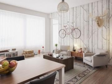 把盆栽、自行车挂起来的创意公寓