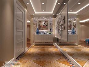 混搭 复式 别墅 80后 白领 舒适 温馨 玄关图片来自北京高度国际装饰设计在旭辉御府中西混搭的分享