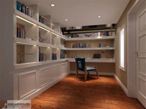 混搭 复式 别墅 80后 白领 舒适 温馨 书房图片来自北京高度国际装饰设计在旭辉御府中西混搭的分享