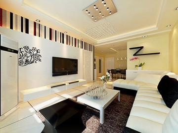 贻成豪庭90平米现代简约风格