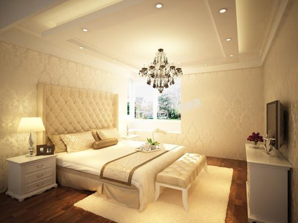 卧室墙面铺贴了荧光壁纸。