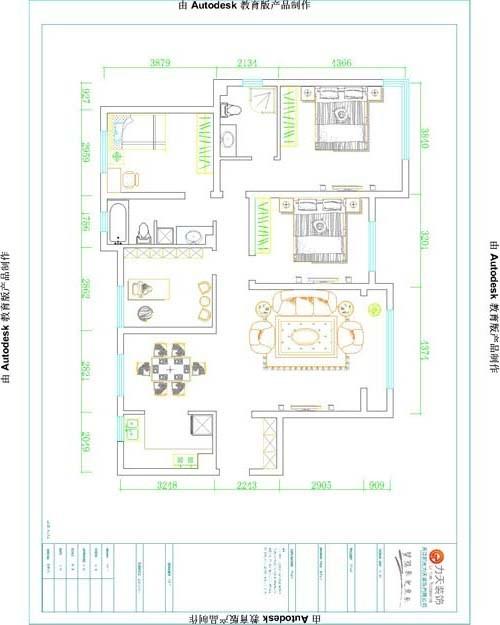 户型分析:     本户型是两厅四室两卫的户型,整体长宽比例比较匀称,入户门右侧逆时针分别是客厅,次卧室,主卧室,主卫,小卧室,卫生间,书房,餐厅,厨房。
