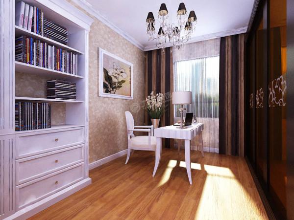 书房的位置很是巧妙,充分合理利用空间,在墙角有很不错的休憩空间。