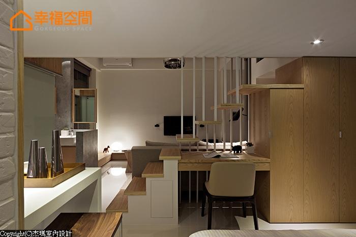 简约 混搭 收纳 别墅 小资 80后 小清新 舒适 书房图片来自幸福空间在50 m²光影 时间对话的分享