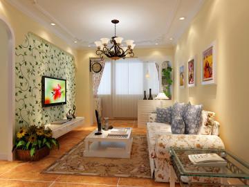 美式田园风格-二居室-温馨柔和