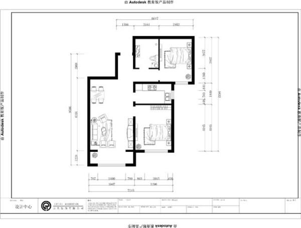 本户型为两室两厅一卫一厨的90平米的平层户型。入口处有一玄关,左手边是卫生间和次卧,右手边为餐厅和客厅,餐厅和客厅没有明显的界限划分,与餐厅相对的是厨房,电视背景墙后面即是主卧,客厅配有阳台,方便采光。