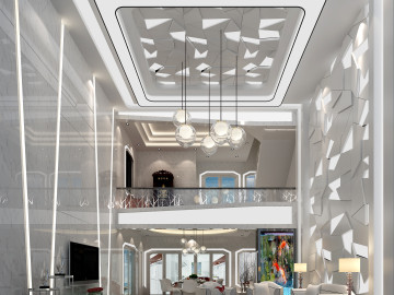 现代风格—320平简约时尚别墅