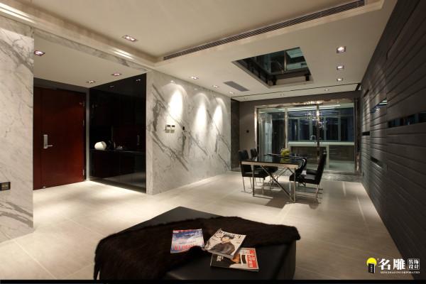 名雕装饰设计——客厅-餐厅全景图