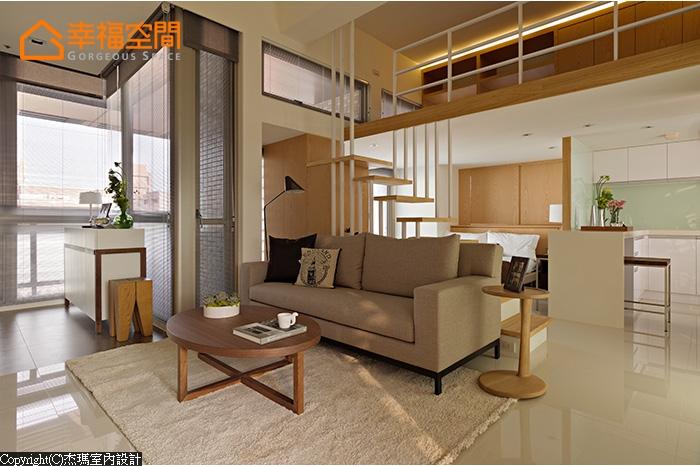 简约 混搭 收纳 别墅 小资 80后 小清新 舒适 客厅图片来自幸福空间在50 m²光影 时间对话的分享