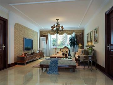 140平四居室简欧风格案例
