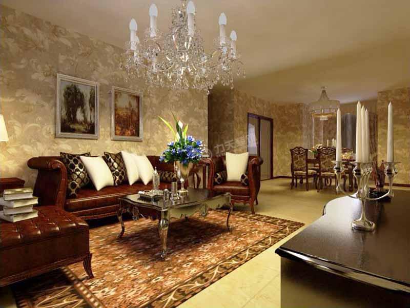 欧式 三居 收纳 旧房改造 80后 小资 客厅图片来自阳光力天装饰糖宝在星河荣御122㎡的分享
