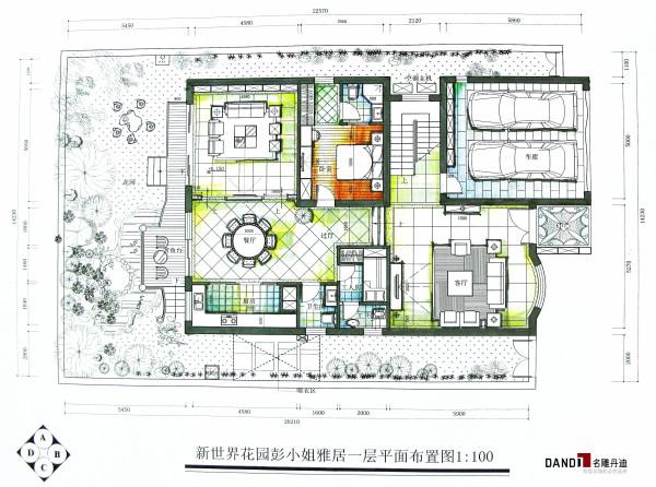 新世界花园二层户型图