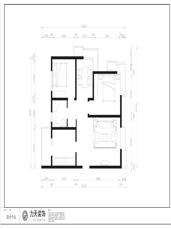 以入户门为起点,沿顺时针方向来分析,入户门左侧为厨房,厨房紧邻卫生间,卫生间上方为次卧,次卧旁为小客厅,小客厅旁边为主卧,同样带有一个大飘窗。主卧下方为大客厅。