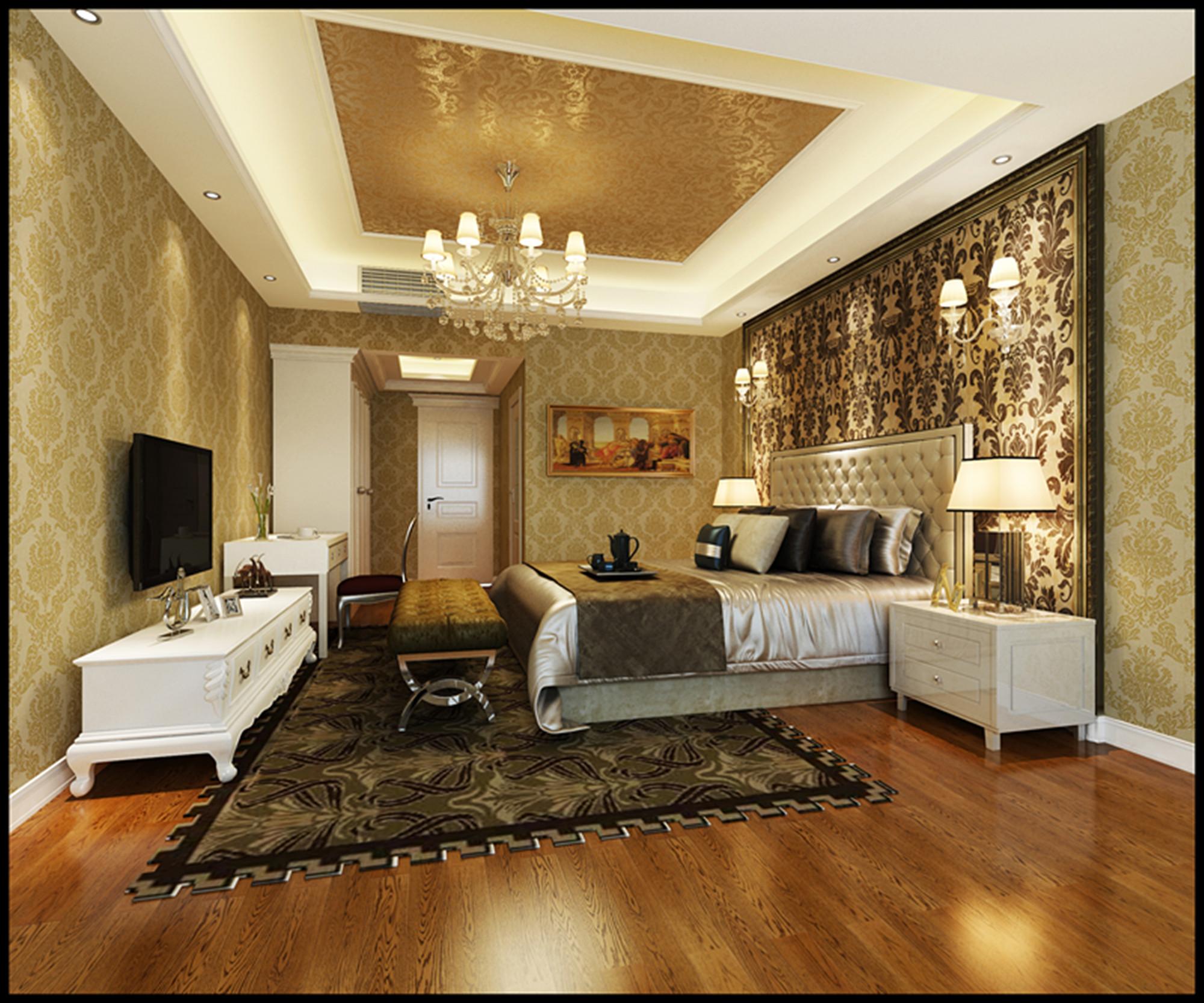 4居 欧式 150平米 庄士 装修 报价 家居 生活 整体家装 卧室图片来自曹丹在庄士映蝶蓝湾-欧式风格-150平米的分享